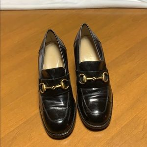 GUCCI authentic stacked heel shoes